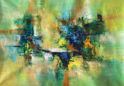 Abstract 08 (ART_1522_14344) - Handpainted Art Painting - 36in X 24in