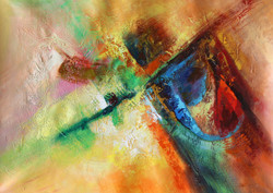 Abstract 07 (ART_1522_14343) - Handpainted Art Painting - 36in X 24in