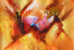 Abstract 06 (ART_1522_14342) - Handpainted Art Painting - 36in X 24in