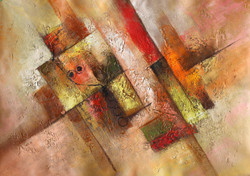 Abstract 04 (ART_1522_14340) - Handpainted Art Painting - 36in X 24in