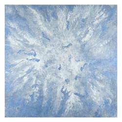 Eyes of the Cloudburst (ART_3780_24858) - Handpainted Art Painting - 24in X 24in
