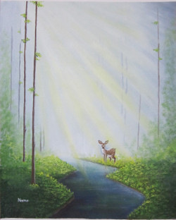Rays of hope (ART_3971_24943) - Handpainted Art Painting - 15in X 19in