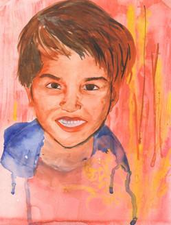 Smile drops (ART_1661_21155) - Handpainted Art Painting - 9in X 11in