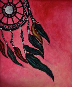 Dream Catcher (ART_3976_24969) - Handpainted Art Painting - 9in X 11in (Framed)