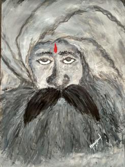 Moksha! (ART_4050_25251) - Handpainted Art Painting - 10in X 14in