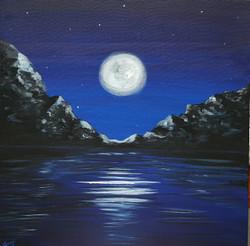 Moonlit (ART_4018_25123) - Handpainted Art Painting - 26in X 20in