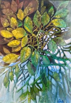 Autum wait (ART_1968_25130) - Handpainted Art Painting - 10in X 14in