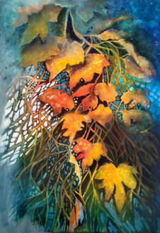Autum is second spring (ART_1968_25129) - Handpainted Art Painting - 24in X 34in