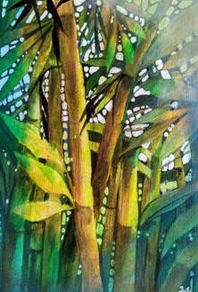 Strength (ART_1968_25128) - Handpainted Art Painting - 10in X 14in