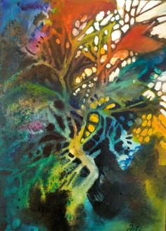 Grow Trees (ART_1968_25126) - Handpainted Art Painting - 10in X 14in