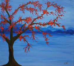 Standing out (ART_4018_25119) - Handpainted Art Painting - 24in X 18in