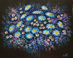Spread them out (ART_4018_25114) - Handpainted Art Painting - 16in X 14in