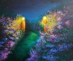 Garden (ART_4018_25514) - Handpainted Art Painting - 24in X 20in