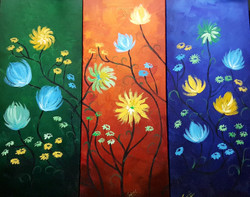 3 in 1 decor (ART_4018_25512) - Handpainted Art Painting - 27in X 20in