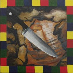 Identified & Killed 2 (ART_3998_25563) - Handpainted Art Painting - 8in X 8in (Framed)