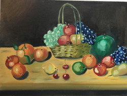 Still life oil Painting (ART_4154_25731) - Handpainted Art Painting - 12in X 18in