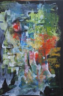 The Sleep (ART_836_25754) - Handpainted Art Painting - 10in X 10in