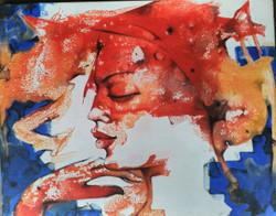 Parineeta  (ART_836_25751) - Handpainted Art Painting - 24in X 20in