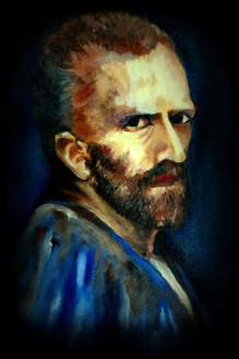 Van Gogh (ART_4179_25803) - Handpainted Art Painting - 17in X 21in (Framed)