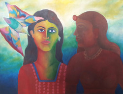 Thoughtprocess (ART_4176_25796) - Handpainted Art Painting - 48in X 35in