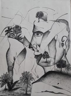 Life (ART_4176_25794) - Handpainted Art Painting - 14in X 18in