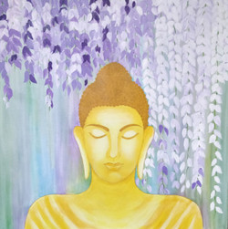 Buddha SIDDHARTH by Jagrat Nidhi (ART_4129_25637) - Handpainted Art Painting - 30in X 30in