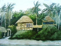 Vacation 15  x 10 (ART_425_6479) - Handpainted Art Painting - 15in X 10in