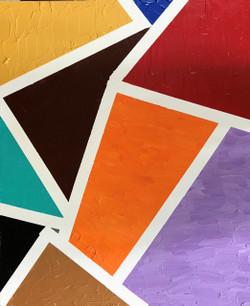 Blocks (ART_4166_25844) - Handpainted Art Painting - 20in X 24in (Framed)