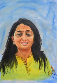 Portrait (ART_4200_25910) - Handpainted Art Painting - 16in X 20in