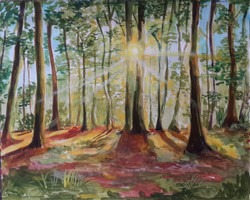 Forest (ART_4209_25906) - Handpainted Art Painting - 12in X 9in