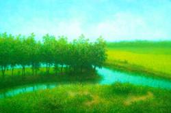 Prabhat (ART_4221_25893) - Handpainted Art Painting - 36in X 24in