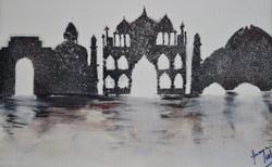 Skyline (ART_4200_25855) - Handpainted Art Painting - 15in X 12in