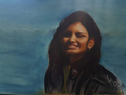Portrait (ART_4200_25858) - Handpainted Art Painting - 24in X 18in