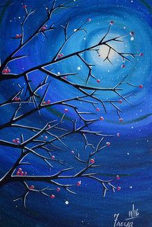 Abstract (ART_4200_25856) - Handpainted Art Painting - 18in X 24in