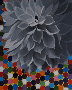 Blossom (ART_4187_25827) - Handpainted Art Painting - 16in X 20in (Framed)