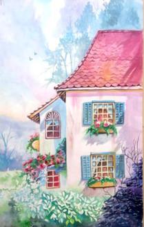 Winter beauty (ART_4201_26047) - Handpainted Art Painting - 18in X 24in
