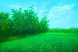 Shyama (ART_4221_26044) - Handpainted Art Painting - 36in X 24in