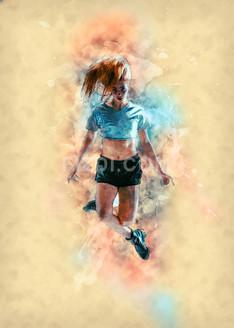 Hip Hop Dance (PRT_17) - Canvas Art Print - 21in X 30in
