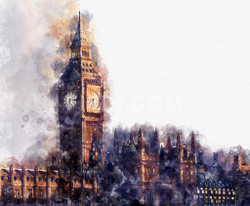 Big Ben Paraliament (PRT_50) - Canvas Art Print - 26in X 21in