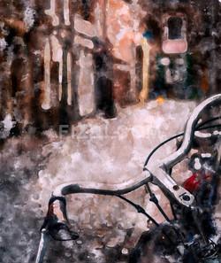 European Bicycle (PRT_53) - Canvas Art Print - 21in X 25in