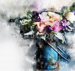 Flowers (PRT_55) - Canvas Art Print - 22in X 21in
