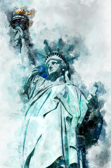 Statue Of Liberty (PRT_57) - Canvas Art Print - 21in X 32in