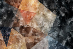 Geometric Abstract (PRT_66) - Canvas Art Print - 32in X 21in
