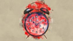 Vintage Alarm Clock (PRT_68) - Canvas Art Print - 37in X 21in