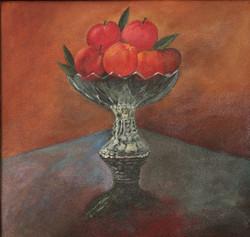 Kashmir apples (ART_4065_26264) - Handpainted Art Painting - 18in X 18in