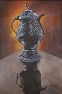 Kashmiri samavar (ART_4065_26262) - Handpainted Art Painting - 16in X 24in
