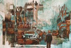 Cityspace 2 (PRT_92) - Canvas Art Print - 26in X 17in