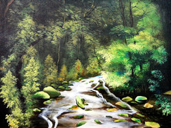 Scenery Art - 20in X 16in,ART_KAPL80_2016,Kankana Paul,Museum Quality - 100% Handpainted  Nature - Buy Paintings online in india