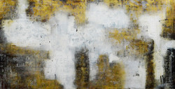 Yellow black abstract (FR_1523_23811) - Handpainted Art Painting - 63in X 31in