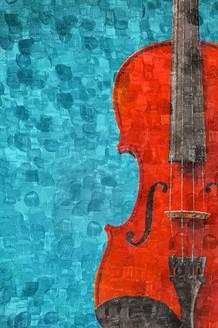 The Violin (PRT_214) - Canvas Art Print - 21in X 32in